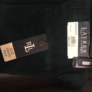 Ralph Lauren 'Flat Front Pant—Green' 36 x 32L